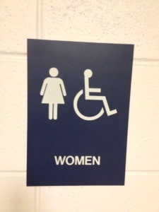 No longer will females be subjugated by facility signs