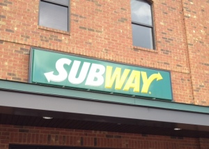 Up North this word means public transportation; down here it means sandwiches that will help you lose weight - supposedly