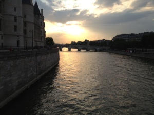 Sunset on the Seine - totally worth the near death experience