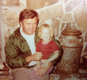 Age four with Dad