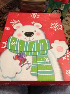 What a festive looking bear . . .